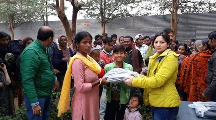 Distributing Clothes-Mehaan Charitable Foundation
